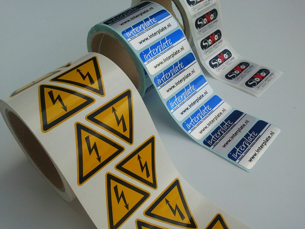 Stickers vinyl stickers losse stickers of op rol interplate bv